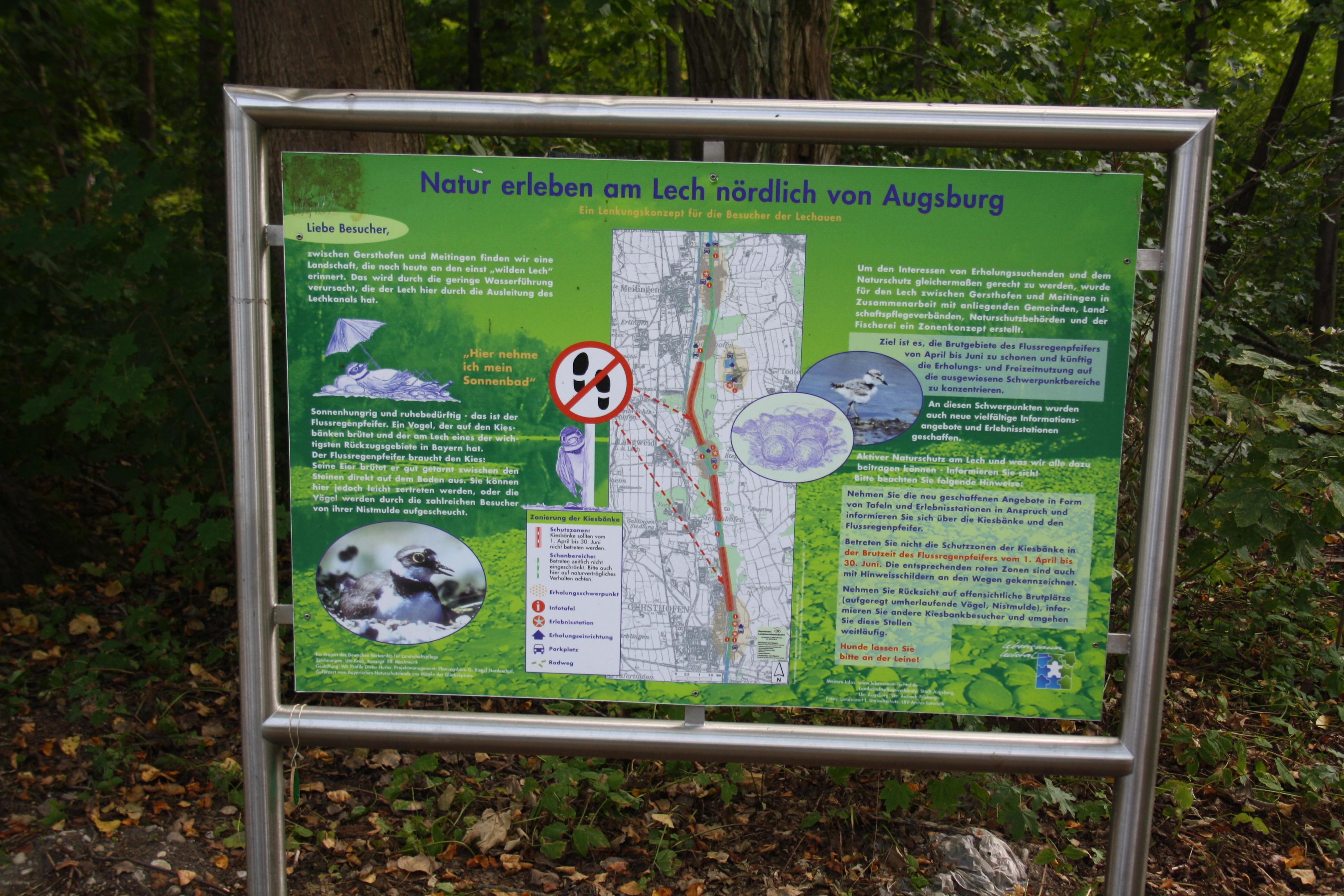Entlang des Lechs nach Augsburg