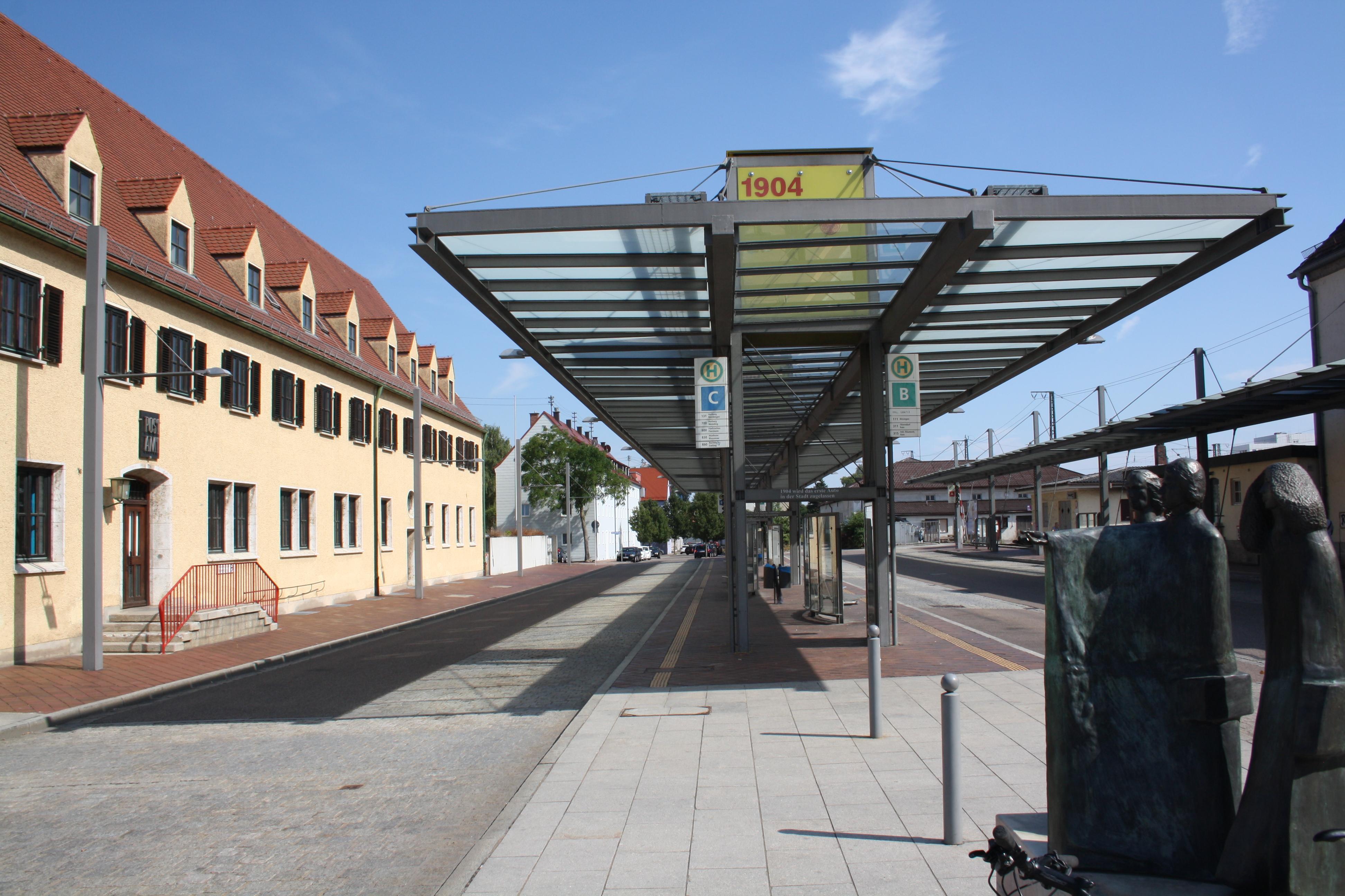 Bahnhofsvorplatz in Donauwörth